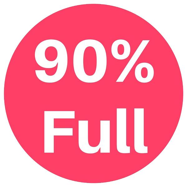 90% Full