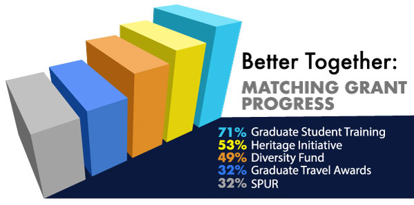 Chart of the Better Together Matching Grant progress per endowment
