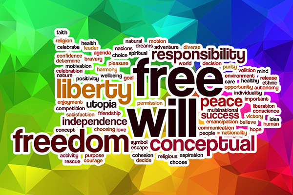 Wordmap of freedom, free will