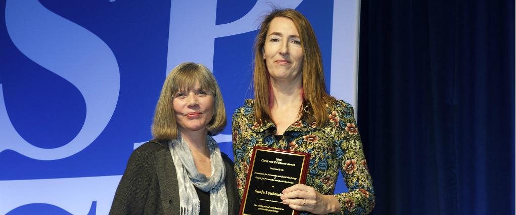 Sonja Lyubomirsky Receives the Diener Award
