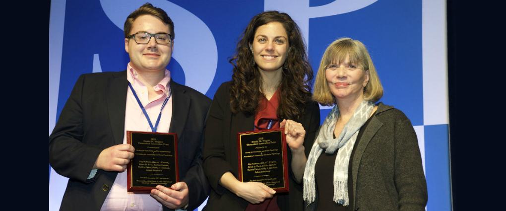 Jim Everett & Molly Crockett Receive Wegner Prize
