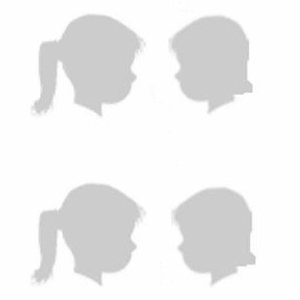 Two sets of silhouetted boys and girls looking at one another