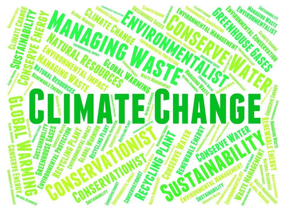 Word cloud of climate change terms