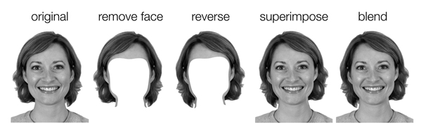 Image of The process that reversed the hair part without changing the face