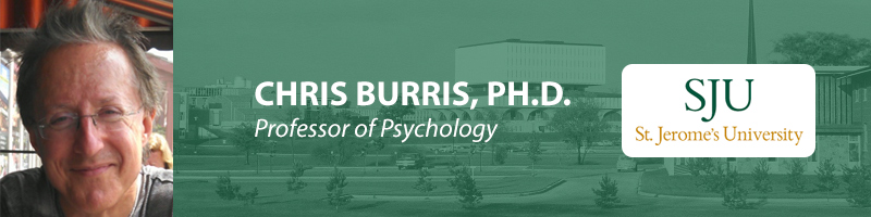 Christopher T. Burris professor of pyschology at St. Jerome's University