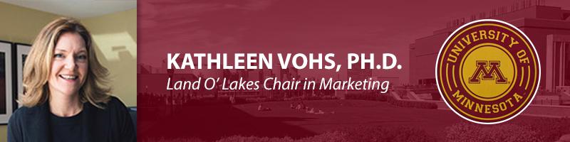 Kathleen Vohs, Ph.D.