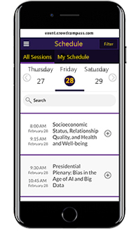 image of the online program planner on an iphone