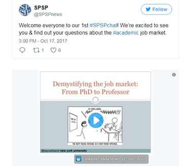 SPSPchat Q&A Twitter post