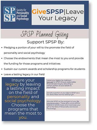 SPSP Planned Giving Flyer