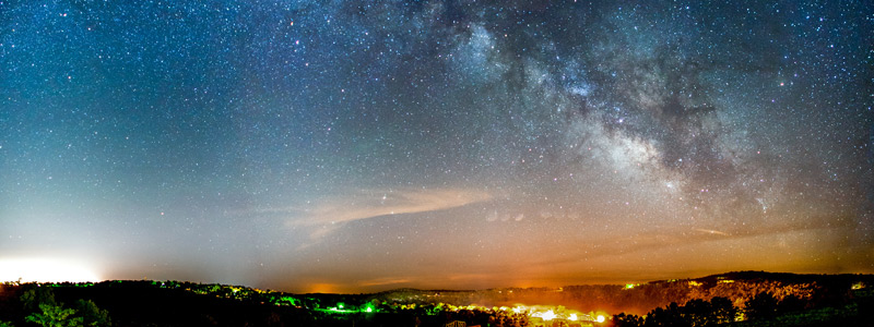 Image of the Milky Way Galaxy over a beautiful landscape