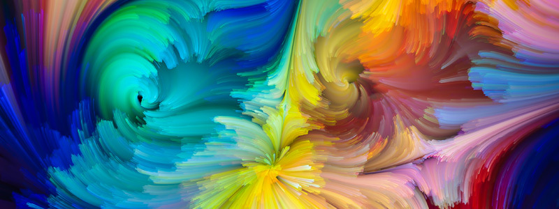 Illustration of colorful brushstrokes